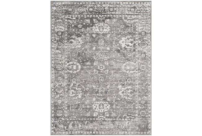 108X144 Rug-Traditional Grey - 360