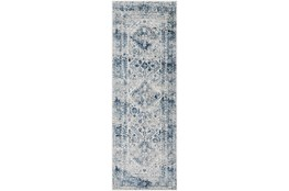 """2'6""""x7'3"""" Rug-Traditional Blue"""