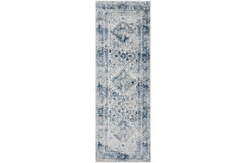 31X87 Rug-Traditional Blue