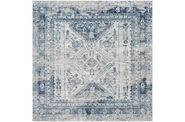 63X63 Square Rug-Traditional Blue