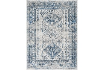 """6'6""""x9' Rug-Traditional Blue"""