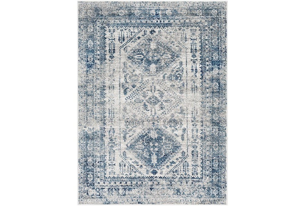94X122 Rug-Traditional Blue