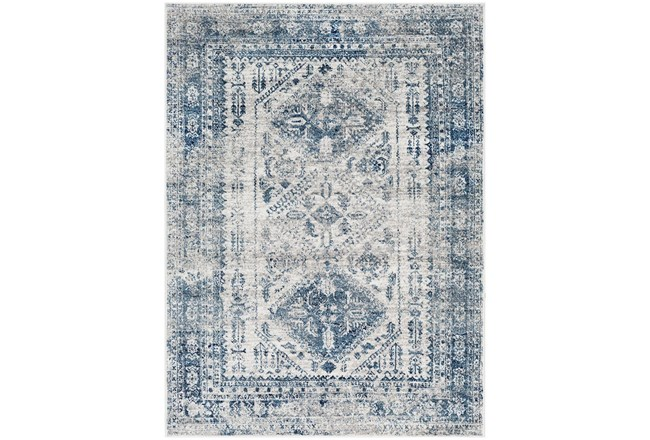 94X122 Rug-Traditional Blue - 360