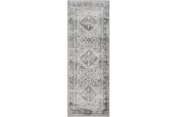 31X87 Rug-Traditional Grey
