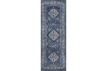 31X87 Rug-Traditional Navy