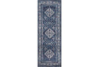 """2'6""""x7'3"""" Rug-Traditional Navy"""