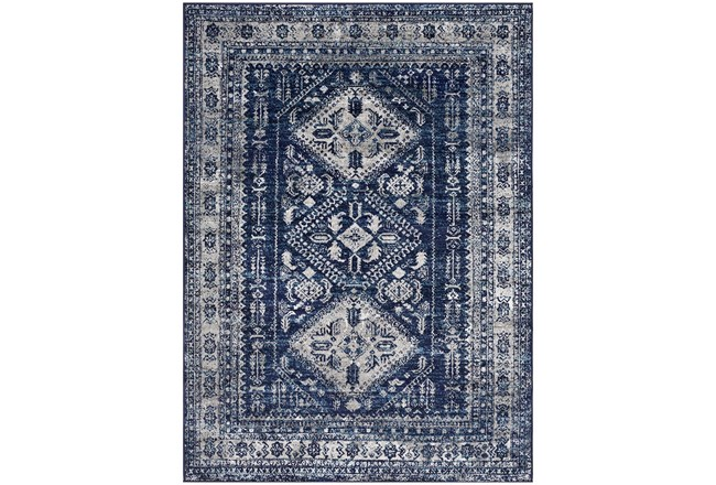 63X87 Rug-Traditional Navy - 360