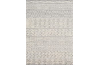 "6'6""x9'5"" Rug-Global Muted Stripe Grey"