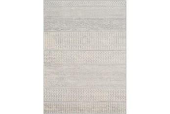 "7'8""x10'3"" Rug-Global Muted Stripe Grey"