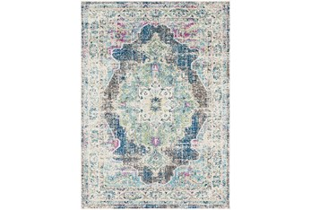 2'x3' Rug-Traditional Distressed Multicolored