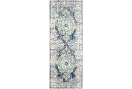 """2'6""""x7'3"""" Rug-Traditional Distressed Multicolored"""