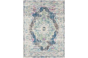 94X123 Rug-Traditional Distressed Multicolored