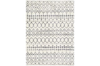 24X36 Rug-Global Shag Gray And White