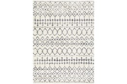 94X123 Rug-Global Shag Gray And White