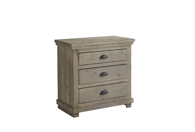 "Sinclair Grey 31"" Nightstand - 360"