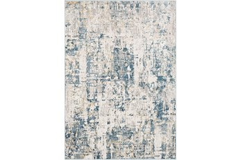 94X122 Rug-Modern Denim And Beige