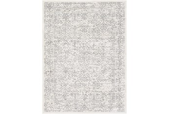 """6'5""""x6'5"""" Square Rug-Traditional Grey"""