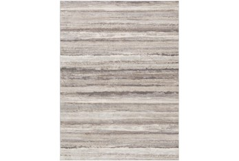 "7'8""x10' Rug-Modern Stripe Grey And Tans"