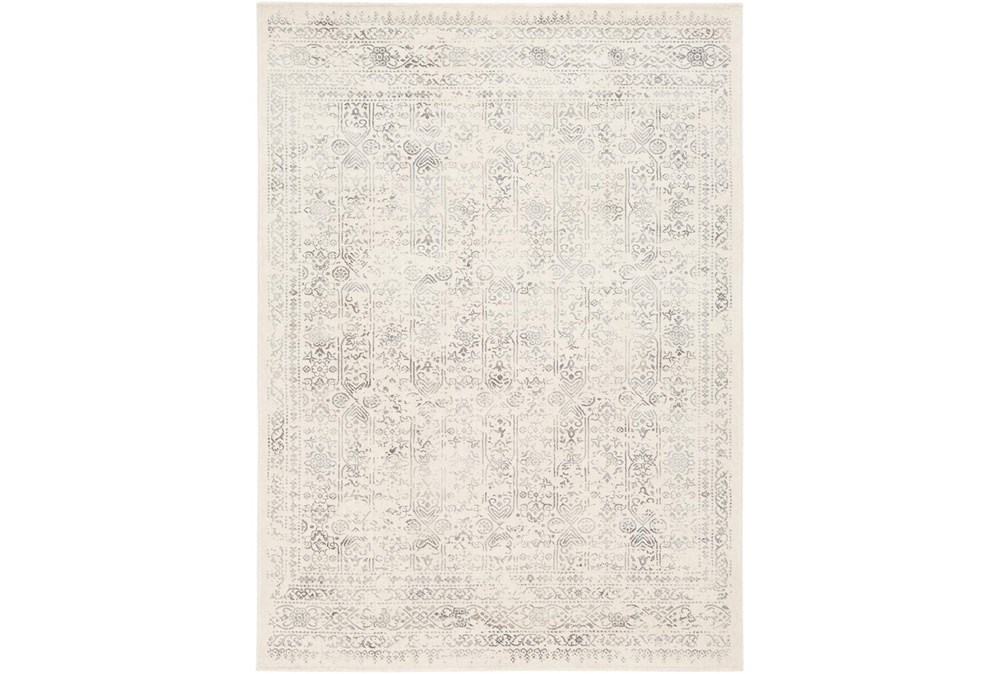 94X94 Square Rug-Traditional Light Greys And Creams