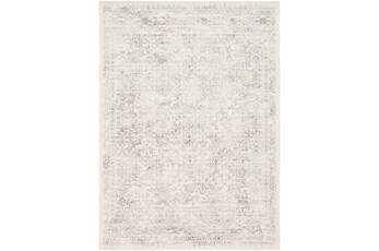 94X94 Square Rug-Traditional Light Greys And Creams