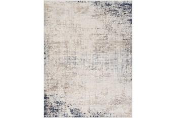 "6'6""x9' Rug-Modern Distressed Grey And Blue"