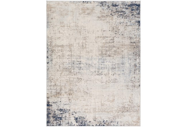 79X79 Square Rug-Modern Distressed Grey And Blue - 360