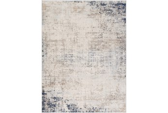 "9'x12'3"" Rug-Modern Distressed Grey And Blue"