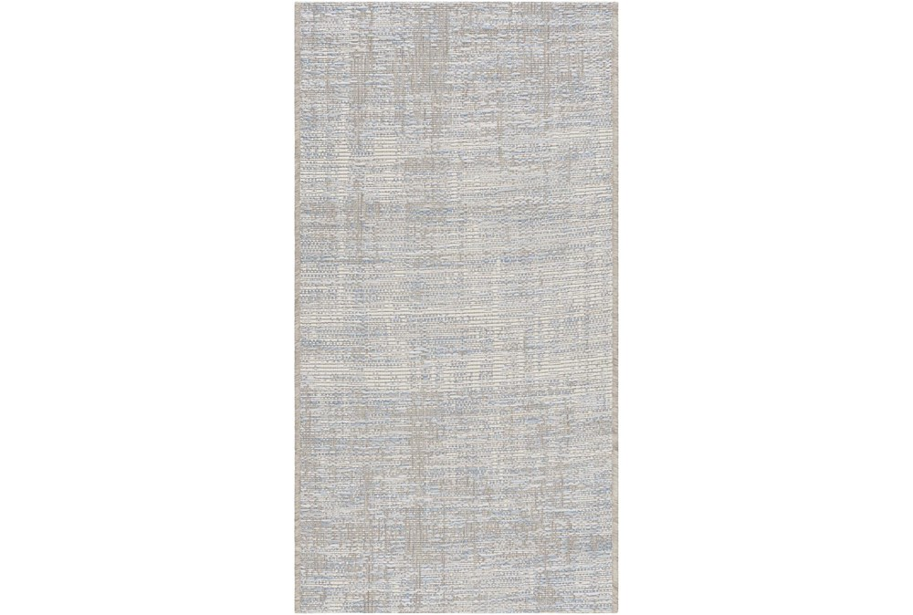 "6'6""x9'5"" Rug-Modern Blue And Cream"
