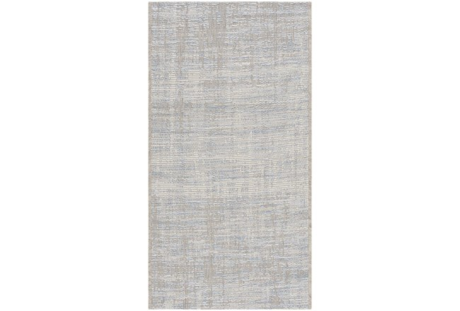 "6'6""x9'5"" Rug-Modern Blue And Cream - 360"