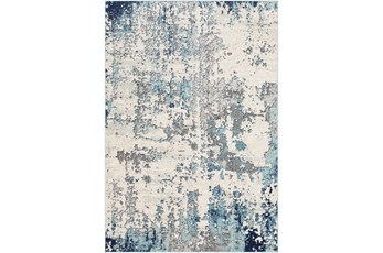 79X79 Square Rug-Modern Aqua And Grey