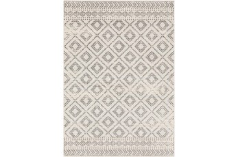 63X87 Rug-Global Diamond Grey And White