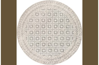 63 Inch Round Rug-Global Diamond Grey And White