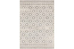 94X123 Rug-Global Diamond Grey And White