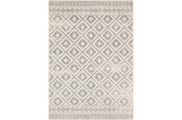 9'x12' Rug-Global Diamond Grey And White