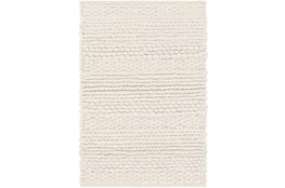 24X36 Rug-Modern Texture Ivory And Charcoal