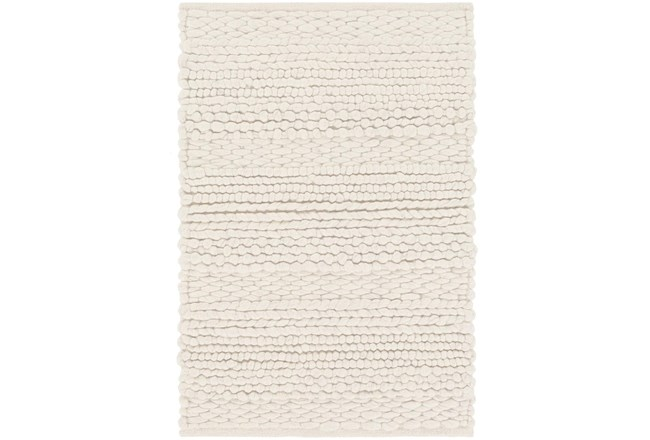 24X36 Rug-Modern Texture Ivory And Charcoal - 360