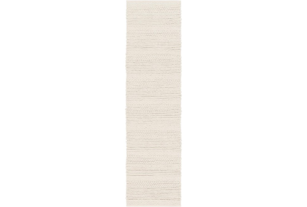 36X144 Rug-Modern Texture Ivory And Charcoal