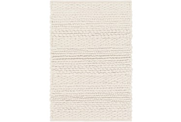 5'x8' Rug-Modern Texture Ivory And Charcoal
