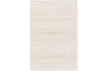72X108 Rug-Modern Texture Ivory And Charcoal