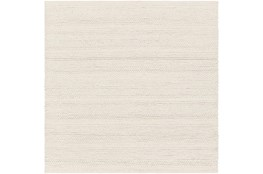 8'x8' Square Rug-Modern Texture Ivory And Charcoal