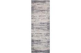 31X120 Rug-Modern Distressed High/Low Khaki And Grey