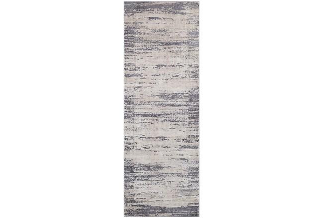 31X144 Rug-Modern Distressed High/Low Khaki And Grey - 360
