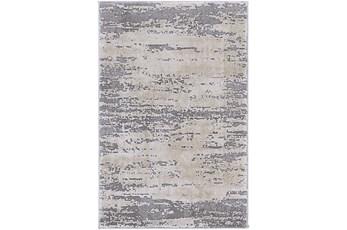 108X148 Rug-Modern Distressed High/Low Khaki And Grey