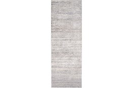 "2'6""x10' Rug-Modern Distressed High/Low Khaki And Grey"