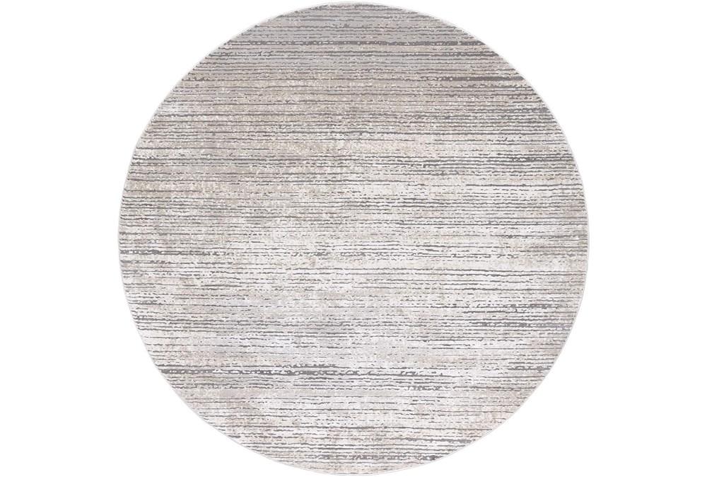 94 Inch Rug-Modern Distressed High/Low Khaki And Grey