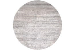 """7'9"""" Round Rug-Modern Distressed High/Low Khaki And Grey"""