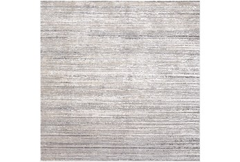 """7'8""""x7'8"""" Square Rug-Modern Distressed High/Low Khaki And Grey"""