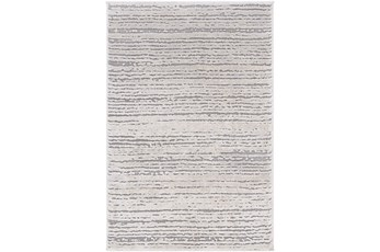 108X148 Rug-Modern Distressed High/Low Khaki And Grey