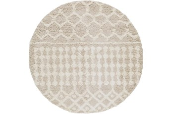 79 Inch Rug-Global Plush Shag Cream And Beige