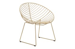 Wire Leaf Gold Outdoor Lounge Chair Set Of 2